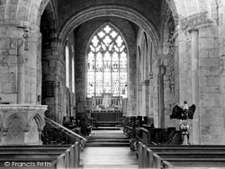 Gnosall, The Church, The Nave c.1950