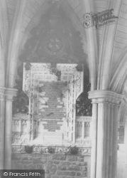 Godalming, Charterhouse, Tablet In Cloister 1903