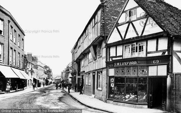 Photo of Godalming, High Street 1895