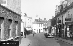 High Street And Old Town Hall c.1955, Godalming