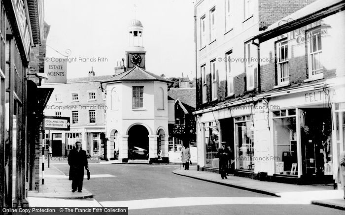 Photo of Godalming, The Old Town Hall And High Street c.1960