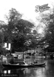 Godmanchester, Boating By The Island Hall Bridge 1901
