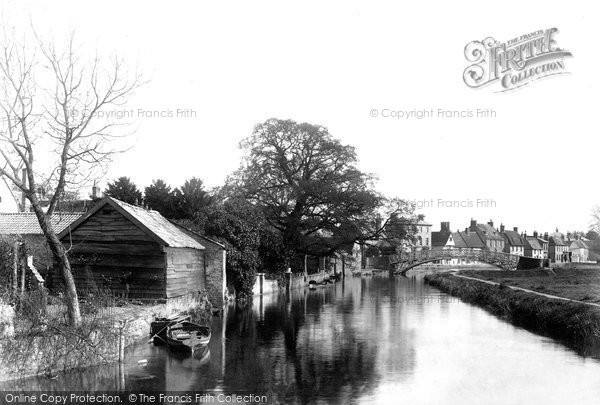 Godmanchester,from Old Mill 1898,Cambridgeshire