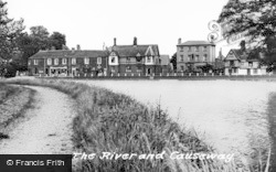 Godmanchester, The River And Causeway c.1955