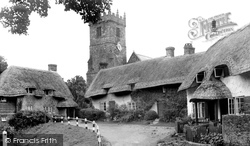 Godshill, All Saints Church And Thatched Cottages c.1955