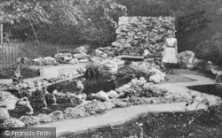 Godshill, The Waterfall, The Old Smithy c.1955