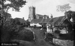 Godshill, Village And All Saints Church 1913