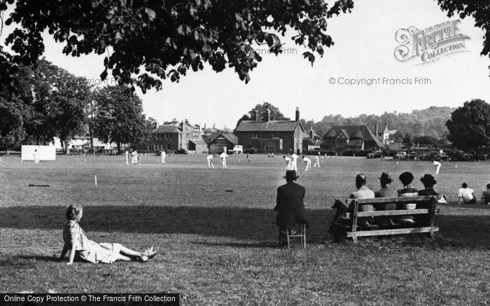 Photo of Godstone, Cricket On The Village Green c.1955