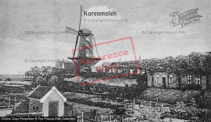 Photo of Goes, Korenmolen (Corn Windmill) c.1935