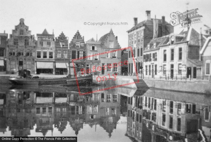 Photo of Goes, Old Houses By Harbour 1934