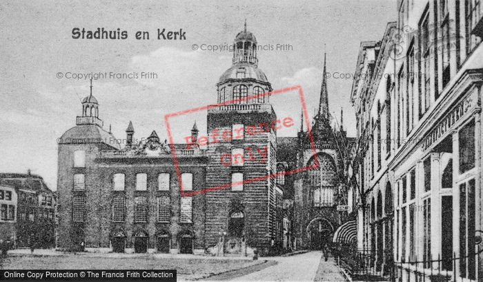 Photo of Goes, Stadhuis (Town Hall) And Church c.1935