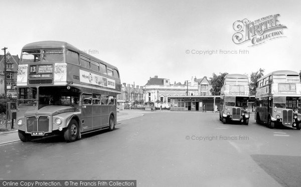 Golders Green, the Bus Station and North End Road c1960
