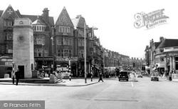 Golders Green, The Memorial And Golders Green Road c.1960