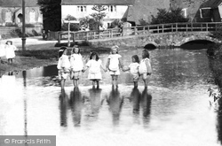 Gomshall, Girls Paddling In The River 1904