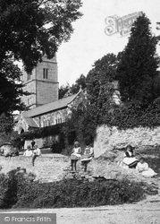 Children By The Church 1894, Goodleigh