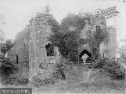 Goodrich, Castle Entrance c.1890