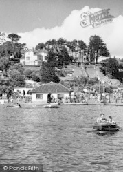 Goodrington, On The Boating Lake c.1955