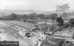 Goodrington, Sands From Cliff Gardens c.1955