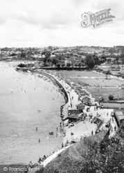 Goodrington, Seafront From Above c.1955