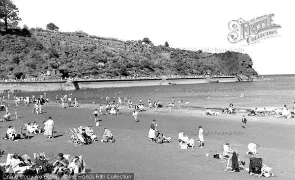 Photo of Goodrington, The Beach c.1955