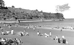 Goodrington, The Beach c.1955
