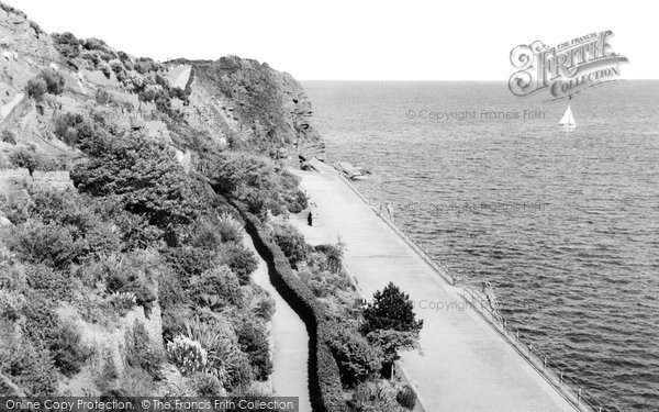 Goodrington, the Promenade and Slopes c1955
