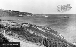 Goodwick, Pen-Cw And Harbour c.1955