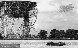 Goostrey, Tractor And Baler At Jodrell Bank Radio Telescope c.1965