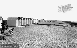 Goring-By-Sea, The Beach And Huts c.1965