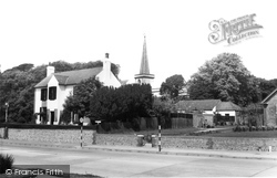 Goring-By-Sea, The Old Court House And St Mary's Church c.1960