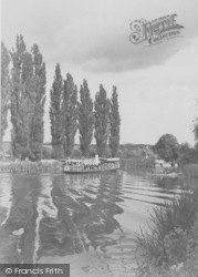 Goring, Steamer On The River Thames c.1950