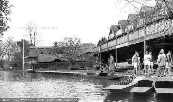 Goring, the Boathouses c1955.  (Neg. G34024)  © Copyright The Francis Frith Collection 2008. http://www.francisfrith.com