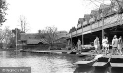 Goring, The Boathouses c.1955