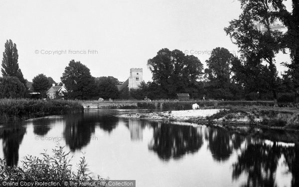 Photo of Goring, The Church From The River Thames 1896
