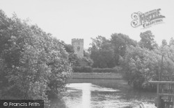 Goring, The River And Church c.1955