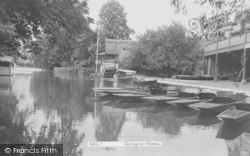 Goring, The River And Punts c.1950