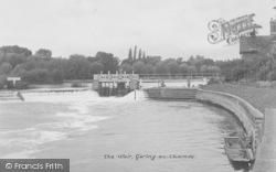 Goring, The Weir c.1950