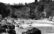 Gorran Haven, Beach And Cliffs c.1955