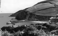 Gorran Haven, Harbour And Cliffs c.1955