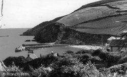 Gorran Haven, Harbour And Cliffs c.1955