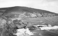 Gorran Haven, Natural Archway, Hemmick Bay c.1955