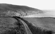 Gorran Haven, Road To Hemmick Bay c.1955