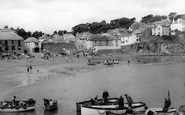 Gorran Haven, The Harbour And Beach c.1960