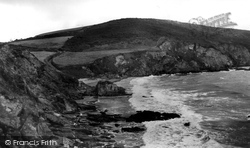 Gorran Haven, View From Natural Archway, Hemmick Bay c.1955