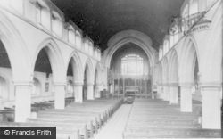 Gorseinon, St Catherine's Church Interior c.1960