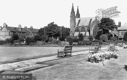 Gosforth, The Park And St Charles Church c.1955