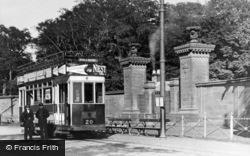 Tram And Park Gates c.1910, Gosforth