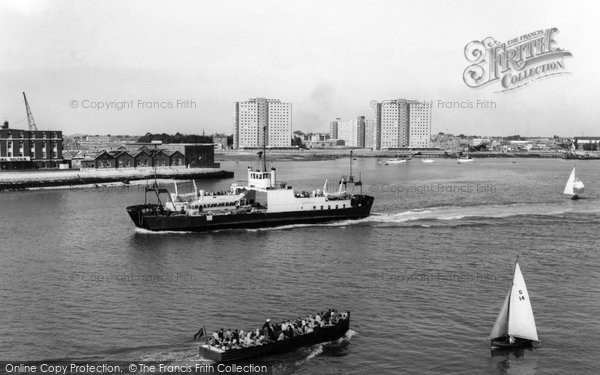 Gosport, from Portsmouth c1965