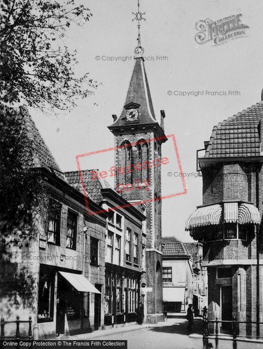 Photo of Gouda, Kuiperstraat And Barbaratoren c.1930