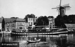Windmill On Canal c.1930, Gouda
